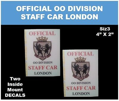 """James Bond OO7 >> OFFICIAL STAFF CAR London """"TWO"""" PARKING DECAL 4X3"""""""