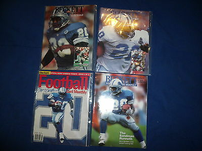 Lot of 4 Barry Sanders 1990s Beckett Football Card Monthly Magazines (Lot 1)