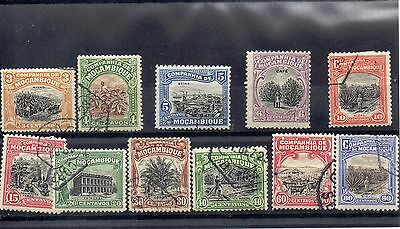 MOZAMBIQUE  1930's Accumulation of 11 stamps