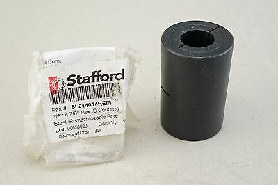 Stafford 5L014014REM REMACHINEABLE RIGID SHAFT COUPLING 1 PIECE SPLIT CLAMP-TYPE