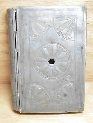 Latin American 18th Century Handmade Silver Bible Book Cover RARE 4021