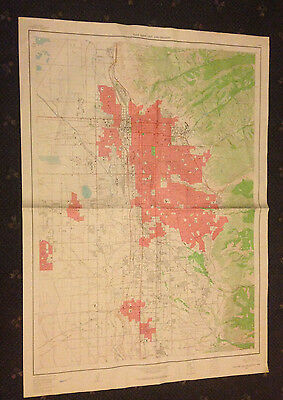 Large Salt Lake City, Utah Geological Survey Map