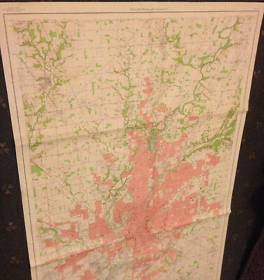 Large Indianapolis, Indiana Geological Survey Map
