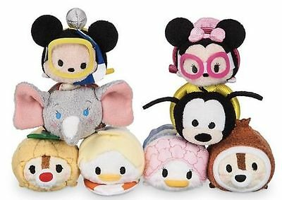 US Disney Vacation Tsum Tsum Collection Complete Set of 8! NWT!! Mickey! Dumbo!