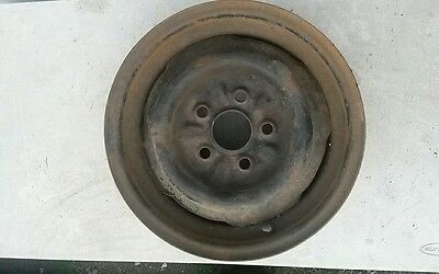 1964 - 1968 Mustang V8 Steel Wheel 5 Lug 14 Inch Disc Brake 14 x 5 Ford Part
