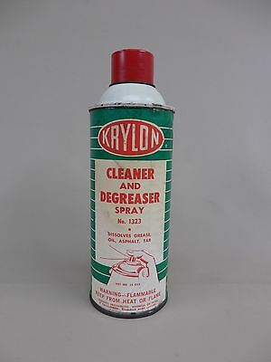 Vintage 1960's Krylon Paper Label Cleaner & Degreaser 15oz. Like Spray Paint Can