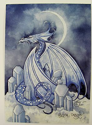 Amy Brown Crystal Dragon Gothic Fairy Postcard Art Print Collectible