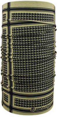 Zan Headgear Motley Tube Coyote Tan Houndstooth One size fits most Polyester