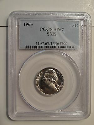 """1965 SMS Jefferson Nickel Graded by PCGS - """"SPECIAL PROOF"""" SP 67"""