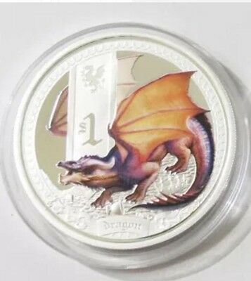 2014 Tuvalu Dragon Mythical Creatures 1 oz Silver Proof Coin