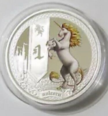 2013 Tuvalu Silver Unicorn MYTHICAL CREATURE 1 oz Proof Coin