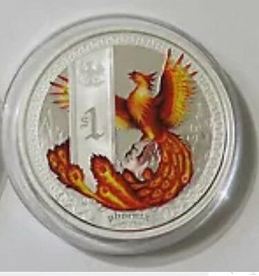 2013 Tuvalu Silver Phoenix MYTHICAL CREATURE 1 oz Proof Coin