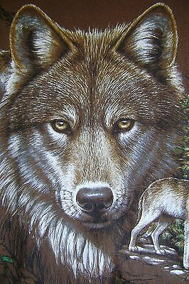 Wolf Graphic T Shirt Large L by Hazelwoods 100% Cotton