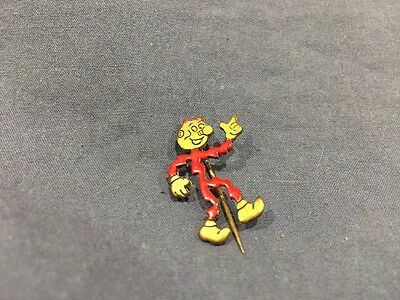 Reddy Kilowatt advertising pin red enamel