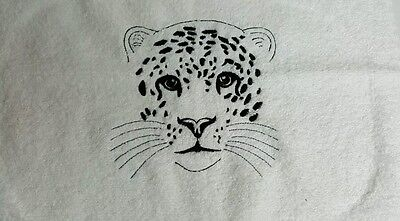 Embroidered Facewasher - LEOPARD