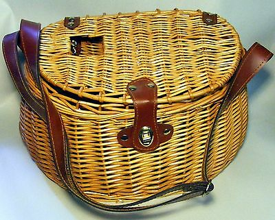 Wicker Fishing Creel 9X16X8 Inches  In Excellent Condition!
