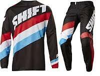 New 2017 Shift White Tarmac Pant And Jersey Combo- Blk Motocross Offroad Enduro