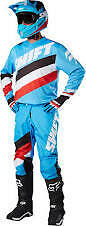 New 2017 Shift White Tarmac Pant And Jersey Combo- Blu Motocross Offroad Enduro