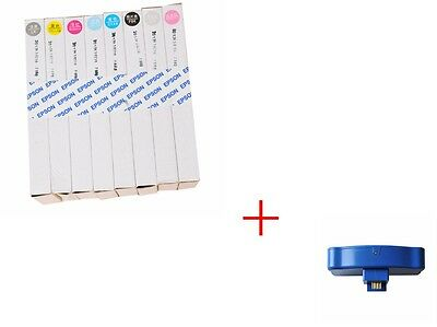 Refillable Ink Cartridge For Epson Stylus Pro 7800/9800 + FREE chip re-setter