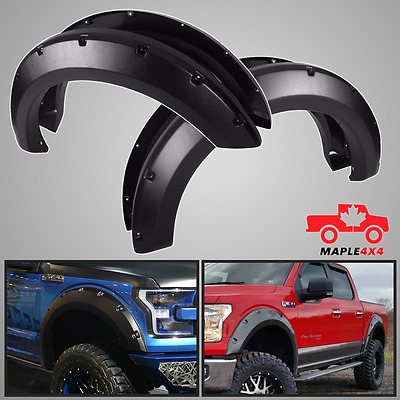 15-17 Ford F150 Pocket Rivet Style Fender Flares 4PC - PP