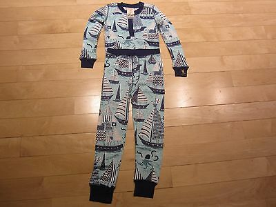 Munki Munki Children's Pajamas Size 2 Sailboat Print