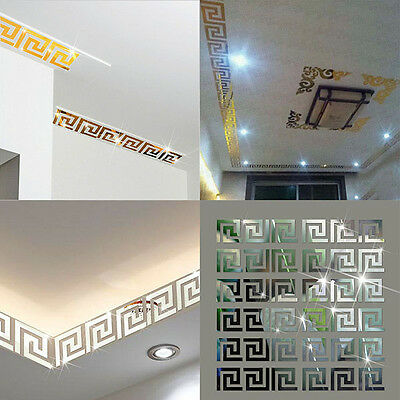 Maze Mirror Style Removable Decal Vinyl Art Wall Sticker Room Home DIY Decor New