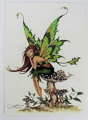 Amy Brown Thinking Of You Gothic Fairy Postcard Art Print Collectible