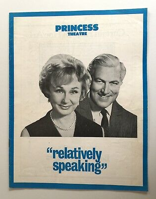 Relatively Speaking 1968 Princess Theatre Melb Googie Withers Rowena Wallace