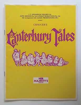 Canterbury Tales 1970 Her Majesty's Theatre Program Melbourne J C Williamson