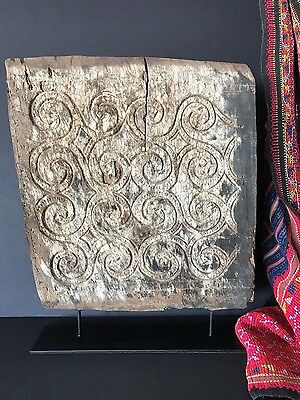 Old Sulawesi Carved Wooden House Panel on Display Stand …Circa early 1900's