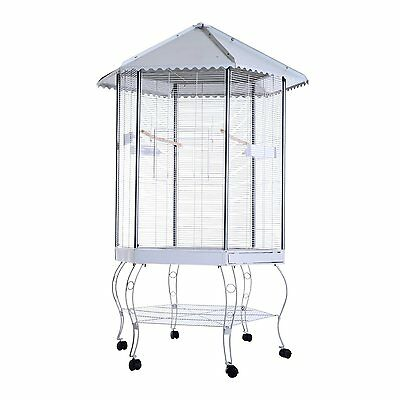 Hexagonal Aviary large Bird Flight Cage finch parrot cockatiel parakeet cages US