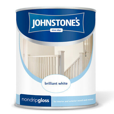 Johnstone's Non Drip Gloss 2.5L Wood & Metal Paint in Brilliant White and Black