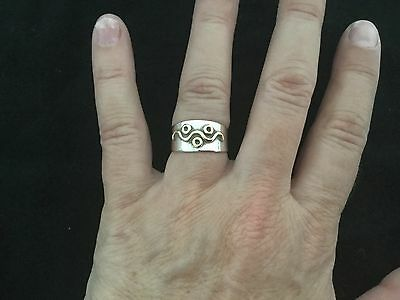 Solid Sterling Silver And 18 Carat Gold Ring