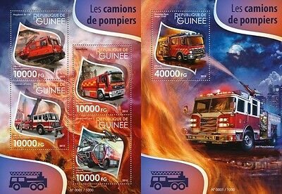 Z08 Imperforated GU15510ab GUINEA (Guinée) 2015 Fire engines MNH Mint S