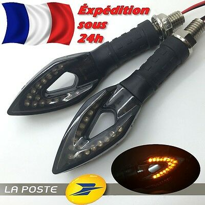 x2 CLIGNOTANT 16 LED Moto Scooter Quad Signal luz intermitentes Seña knipperlamp