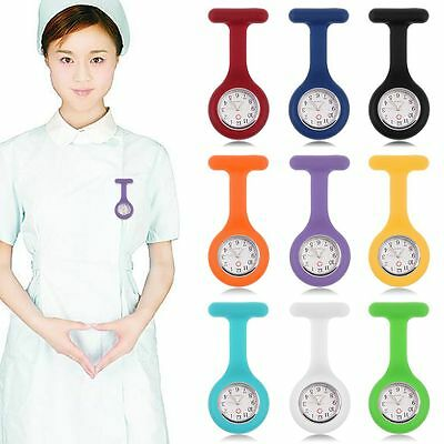 9 Colors Replacement Silicone Brooch Tunic Fob Pocket Nurse Watch Cases Cover~