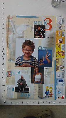 1998 GOT MILK WHERES YOUR MUSTACHE? large celebrity double-sided calendar/poster