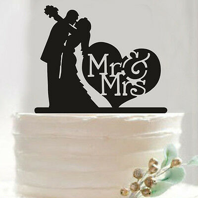 Engagement Party Wedding Bride and Groom Mr & Mrs Acrylic Cake Decoration Topper