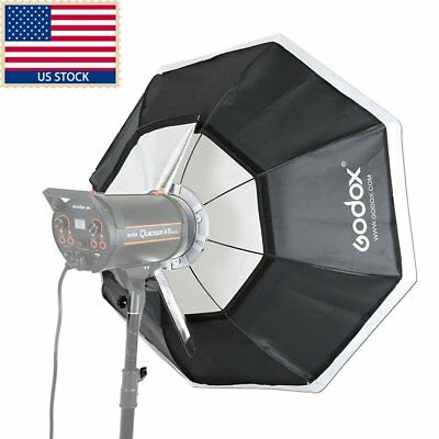 "US 140cm 55"" Godox Octagon Softbox Bowens Mount f Photography Strobe Flash Light"