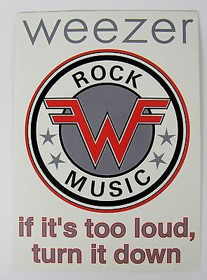 Weezer If It's Too Loud Retro Vintage Art Print Music Rock Band Postcard