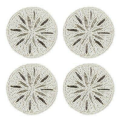 Star By Julien Macdonald Pack Of 4 Silver Beaded Coasters From Debenhams