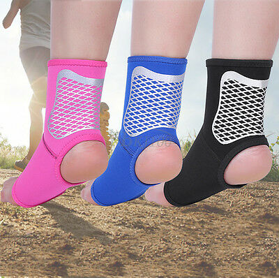 Comfort Sports Pain Relief Compression Ankle Brace Support Foot Wrap Elastic M/L