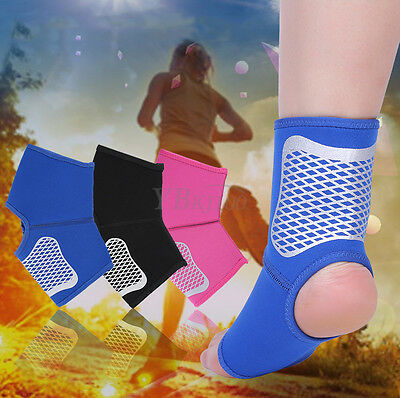 Breathable Adjustable Ankle Foot Support Elastic Brace Guard Football Basketball