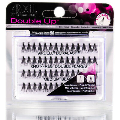 Ardell Double Up Individual Knot-Free Double Flares Lashes BLACK SHORT/MED/LONG