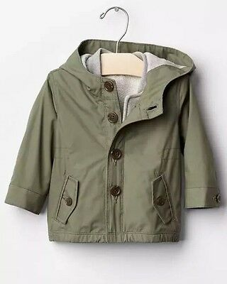 NWOT Baby Gap 3 In 1 Green Jacket Coat 18-24 Months With Removable Liner