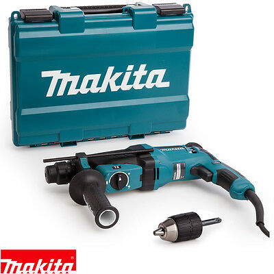 Makita HR2630/1 800W 3-Function SDS Plus Rotary Hammer Drill 110V + Extra Chuck