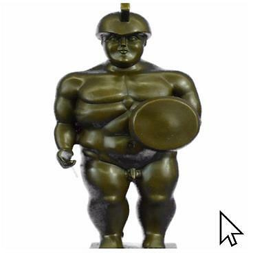 Bronze Sculpture Hot Cast Botero Roman Soldier Figurine Sculpture
