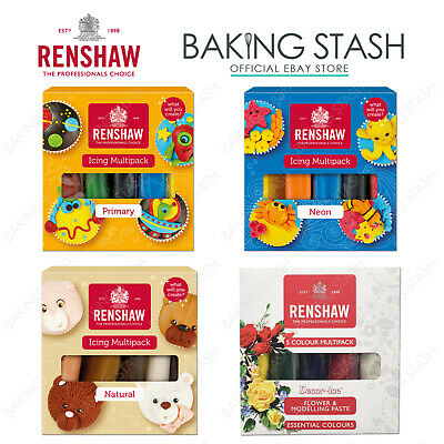 Renshaw Ready To Roll 5x 100g Multipack Fondant Icing Sugarpaste Multi Pack
