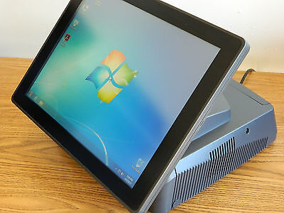 """Lot of 2 - POS SYSTEMS All-in-One Windows 7 15"""" ELO Touchscreen 2.9GHz Dual Core"""