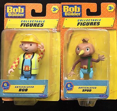 Bob The Builder And Spud The Scarecrow New Figures Toys Or Cake Toppers